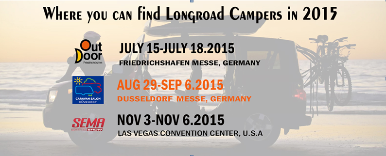 Where you can find Longroad Campers in 2015?